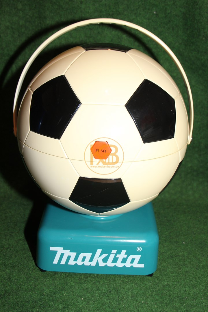 Makita Kühlschrank (oder Wärmeschrank) in Fußballoptik. 1/2