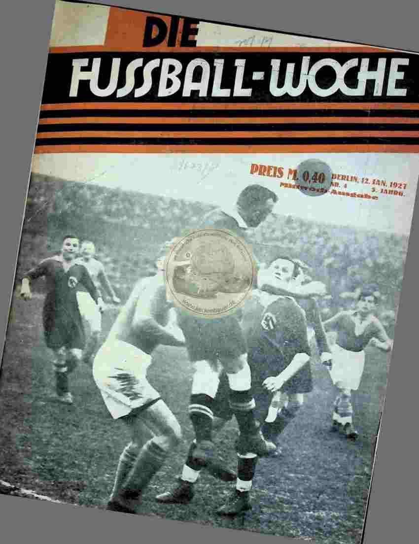 1929 Januar 12. Die Fussball-Woche Nr.4