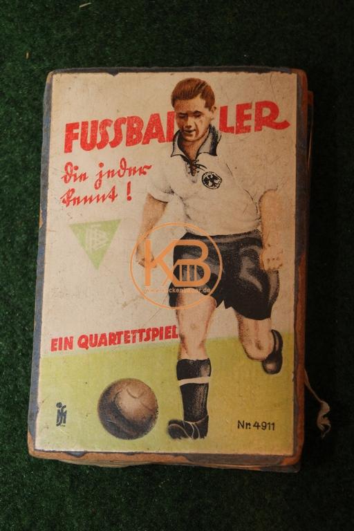 Altes Kartenspiel Fussballer die man kennt von Scholz Mainz 1930er Jahre.