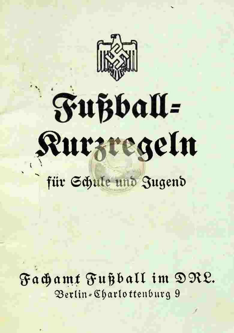 1937 Fußball Kurzregeln