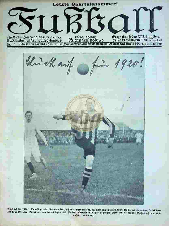 1919 Dezember 31. Fußball Nr.52