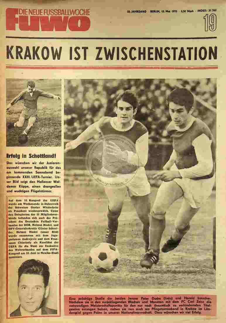 1970 Mai 12. Die neue Fussballwoche fuwo Nr. 19