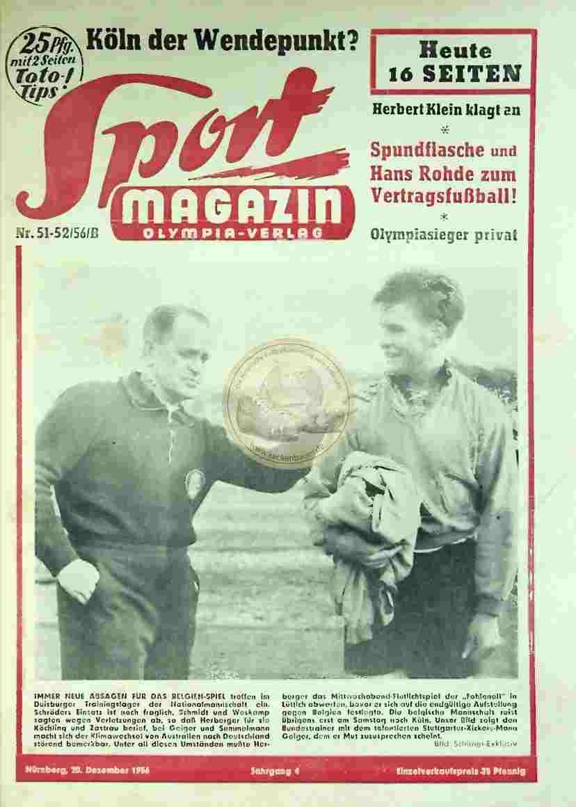 1956 Dezember 20. Sport Magazin Nr. 51-52