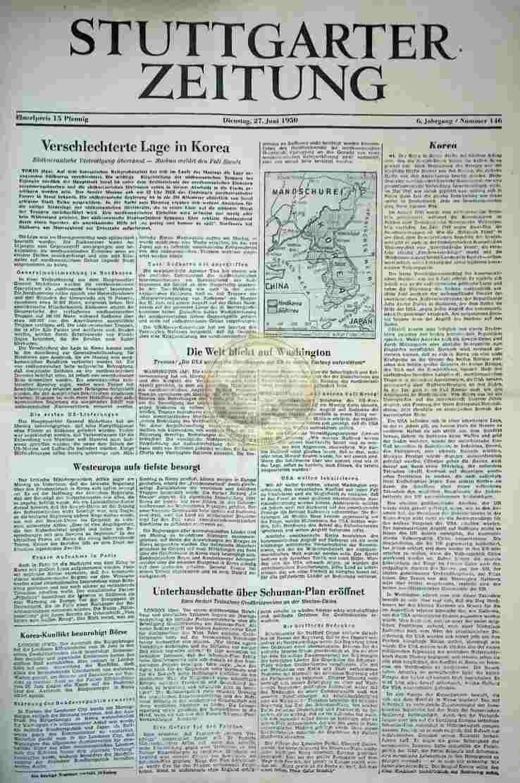 1950 Juni 27. Stuttgarter Zeitung