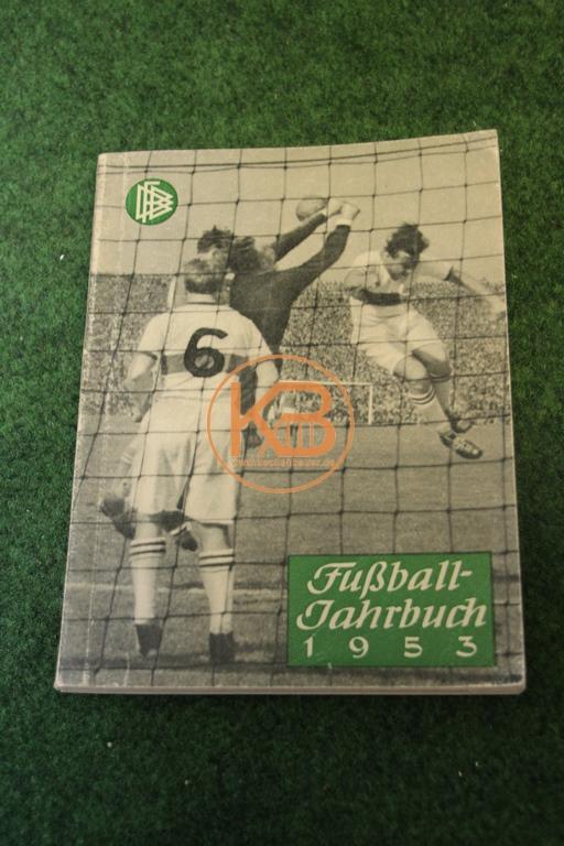 Fußball Jahrbuch aus dem Jahr 1953 herausgegeben vom deutschen Fußballbund.
