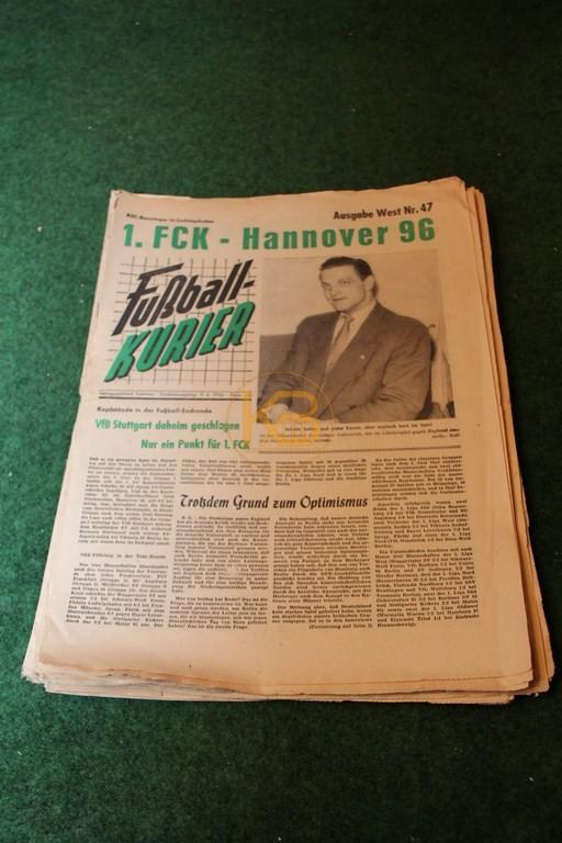 Fußball-Kurier aus dem Zeitraum 12.05.1956 - 29.09.1956 12 Ausgaben