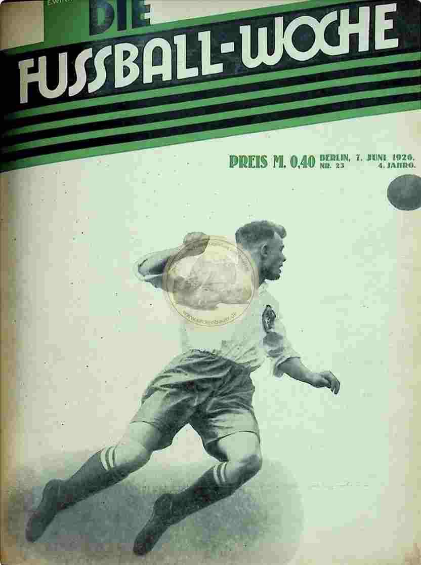 1926 Juni 7. Fussball-Woche Nr. 23