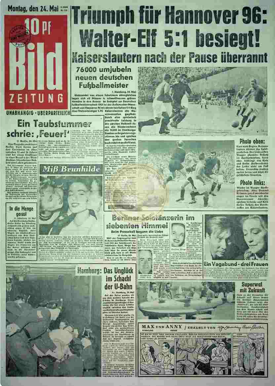 1954 Mai 24. Bildzeitung