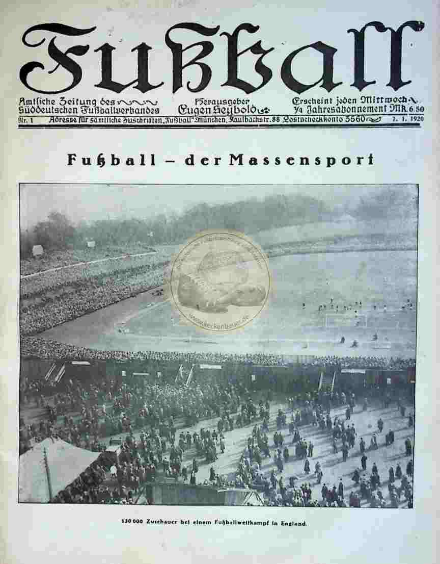 1920 Januar 7. Fußball Nr.1