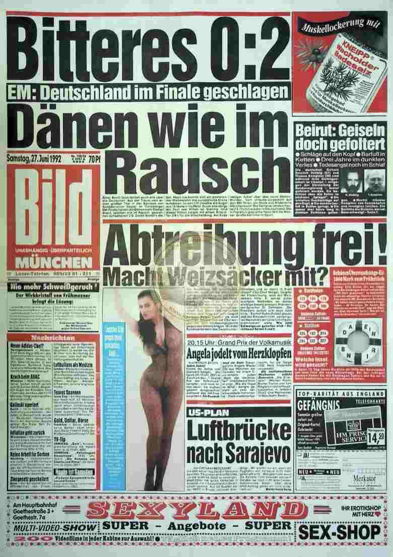 1992 Juni 27. Bildzeitung München