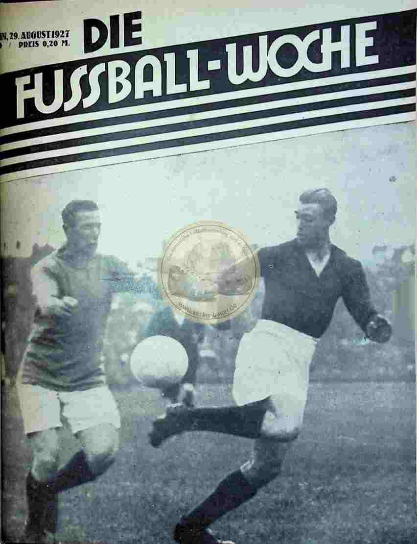 1927 August 29. Fussball-Woche Nr. 69