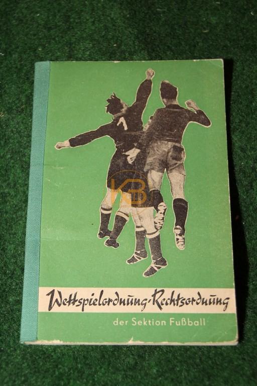 Wettspielordnung Rechtsordnung der Sektion Fußball aus dem Jahr 1954.