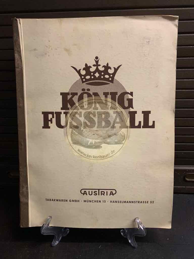 Sammelalbum König Fußball von der Tabakwaren GmbH aus dem Jahr 1953 natürlich vollständig.