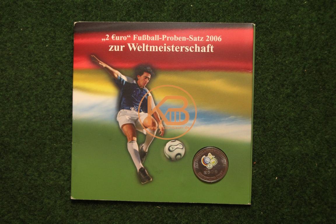 2 € Fussball-Proben-Satz 2006 zur Weltmeisterschaft 1/2