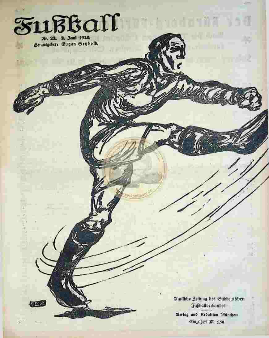 1920 Juni 2. Fußball Nr.22