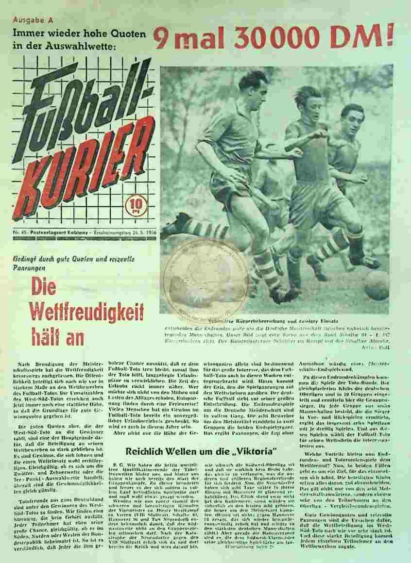 1956 Mai 26 Fußballkurier Nr. 45
