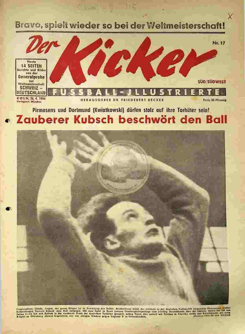 1954 April 26. Kicker Nr.17