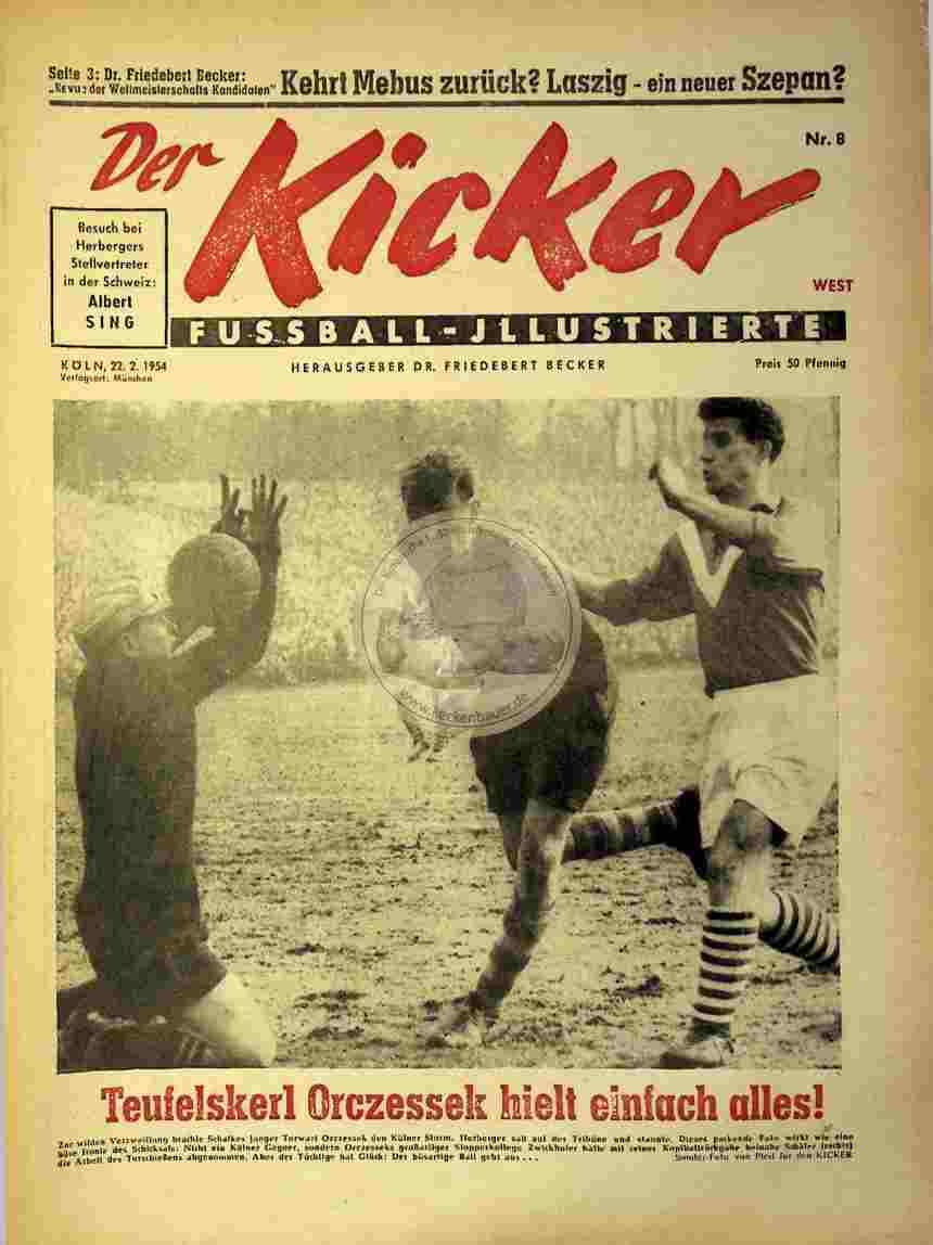 1954 Februar 22. Kicker Nr.8