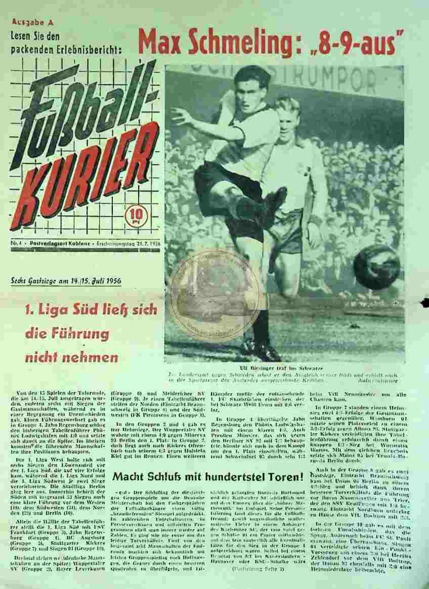 1956 Juli 21. Fußballkurier Nr. 4