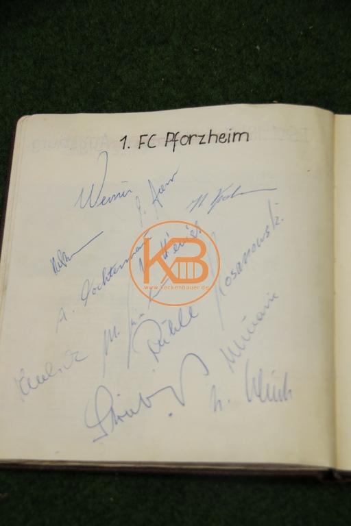 Original Autogramme vom 1. FC Pforzheim aus dem Jahr 1963