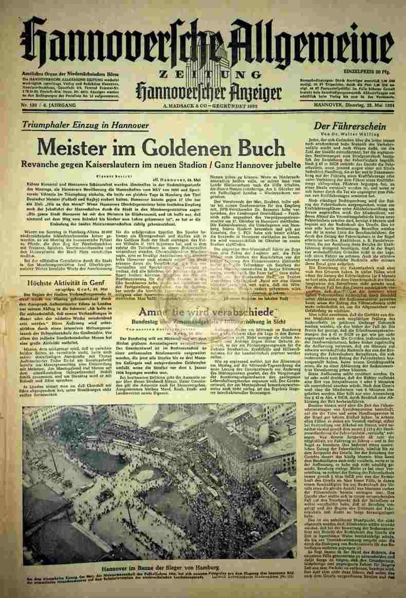 1954 Mai 25. Hannoversche Allgemeine Zeitung Nr.120
