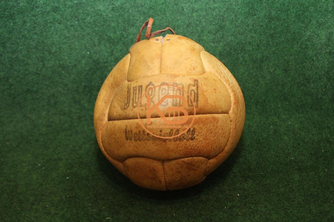 Alter Jugend Wettspielball aus Leder vermutlich aus den 1940ern