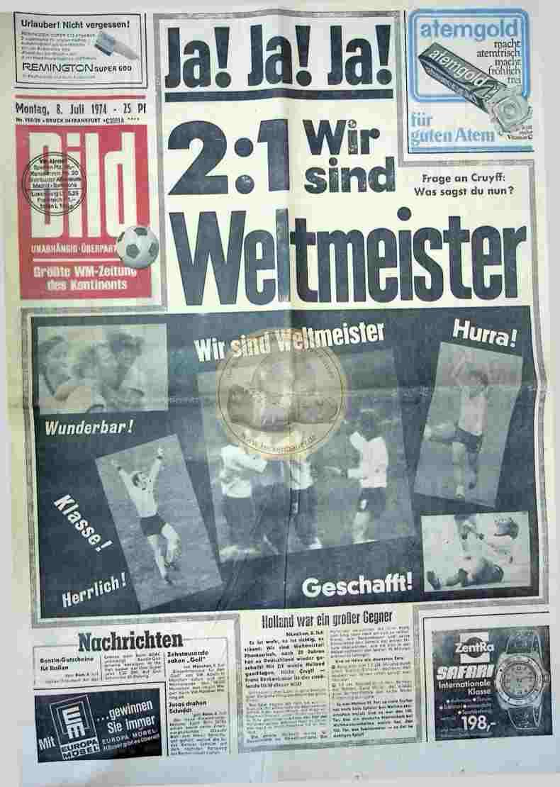 1974 Juli 8. Bildzeitung Frankfurt