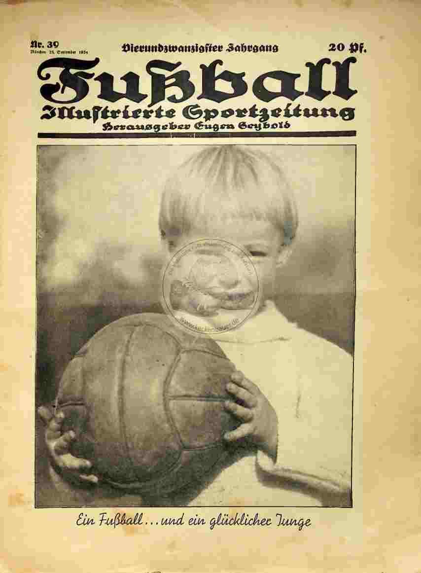 1934 September 25. Fußball Nr. 39