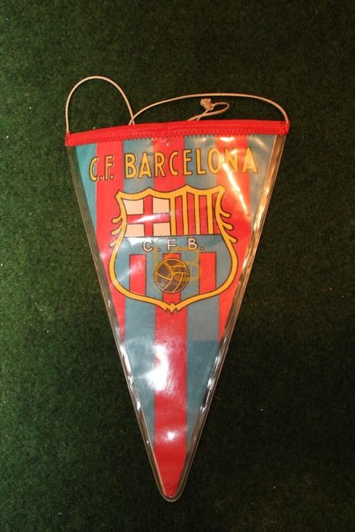 Ein alter Wimpel vom FC Barcelona, vermutlich aus den 50er Jahren.