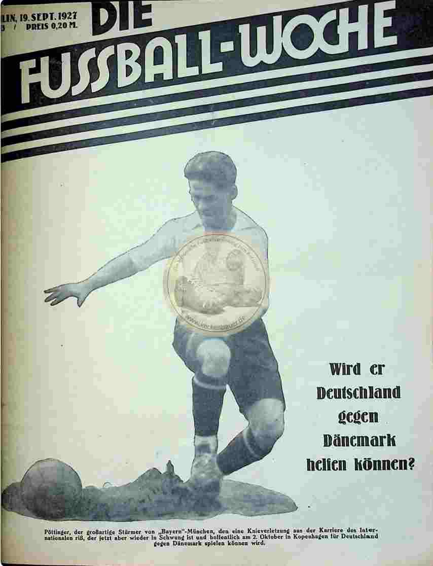 1927 September 19. Fussball-Woche Nr. 75