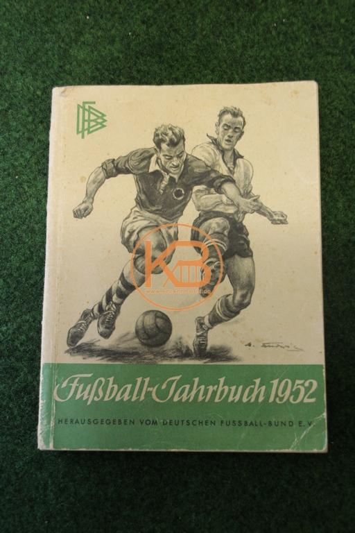 Fußball Jahrbuch aus dem Jahr 1952 herausgegeben vom deutschen Fußballbund.