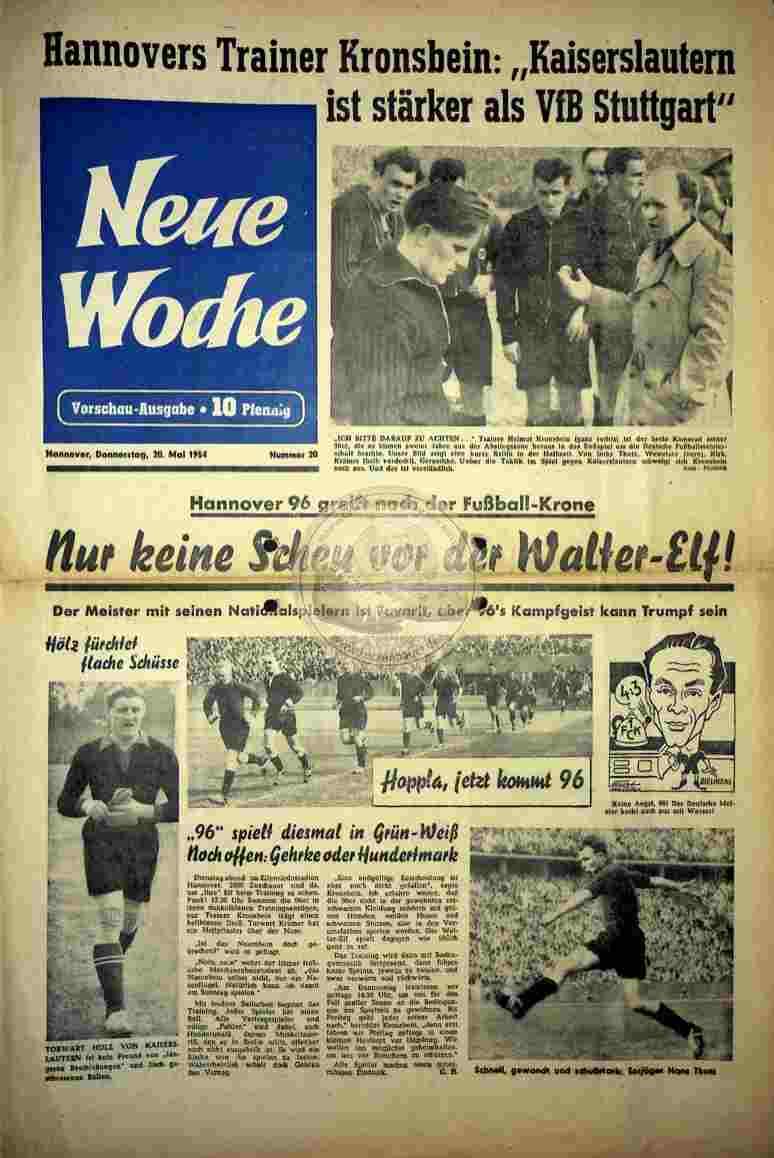 1954 Mai 20. Neue Woche Nr. 20