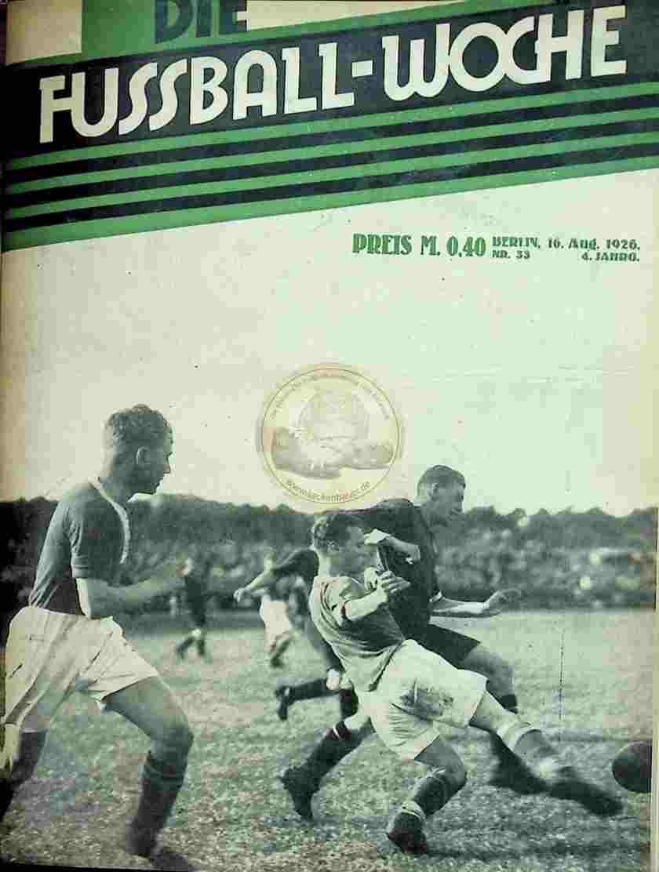 1926 August 16. Fussball-Woche Nr. 33