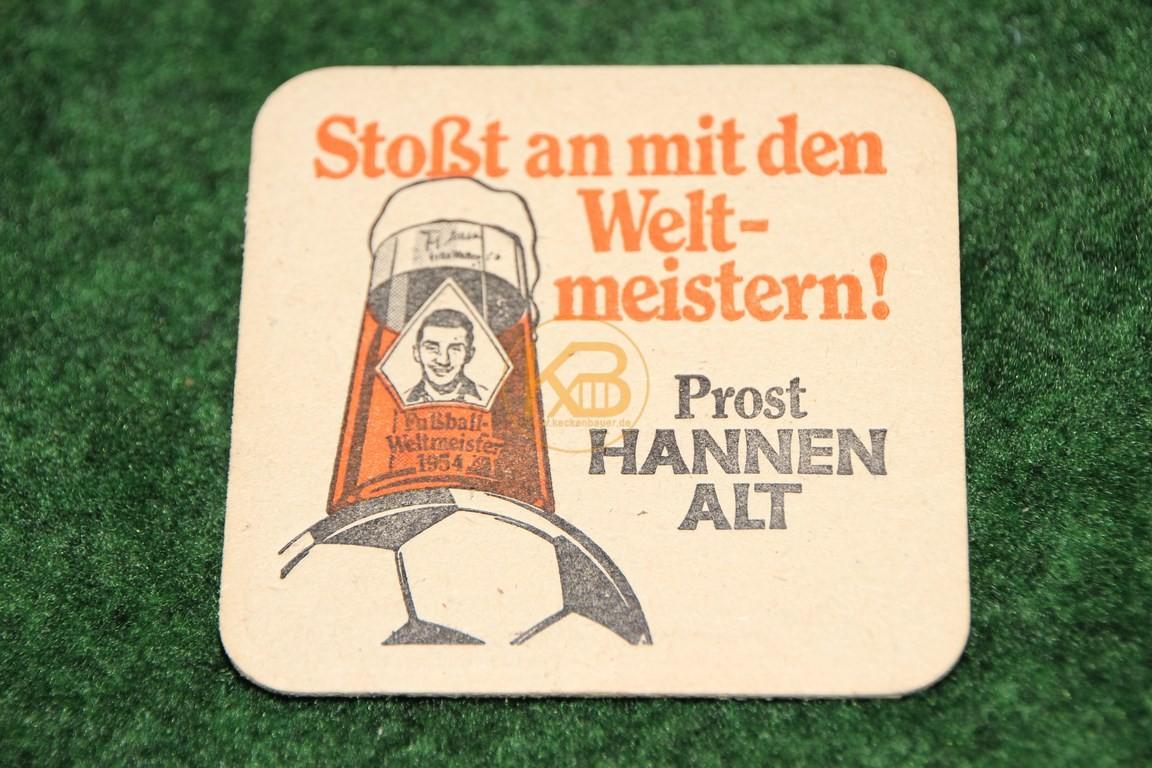 Bierdeckel passend zu den Sammelgläsern von Hannen Alt.