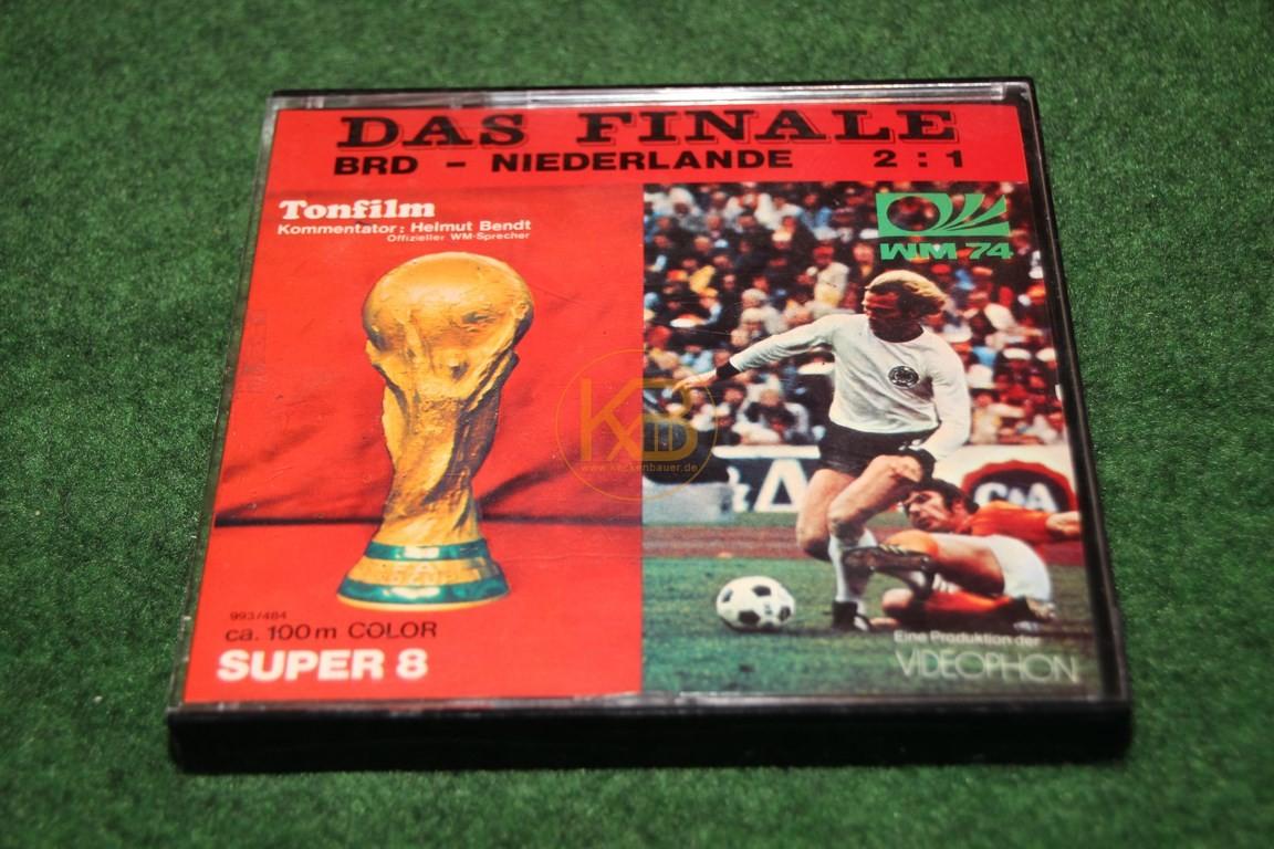 Das WM Finale Deutschland gegen Holland bei der WM 1974 in Deutschland auf Super 8.