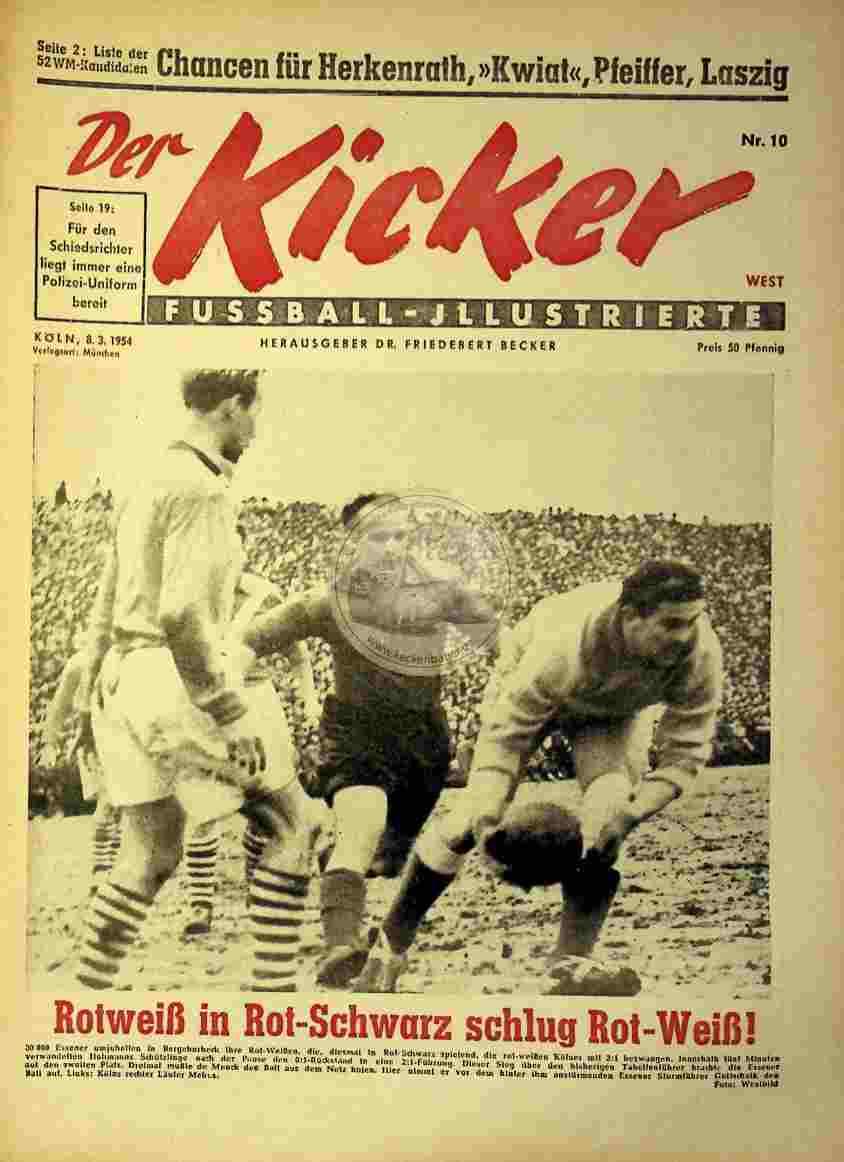 1954 März 8. Kicker Nr.10