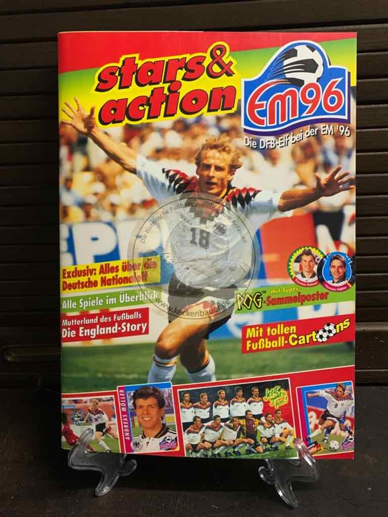 Stars & Action Sammelalbum zur EM 1996
