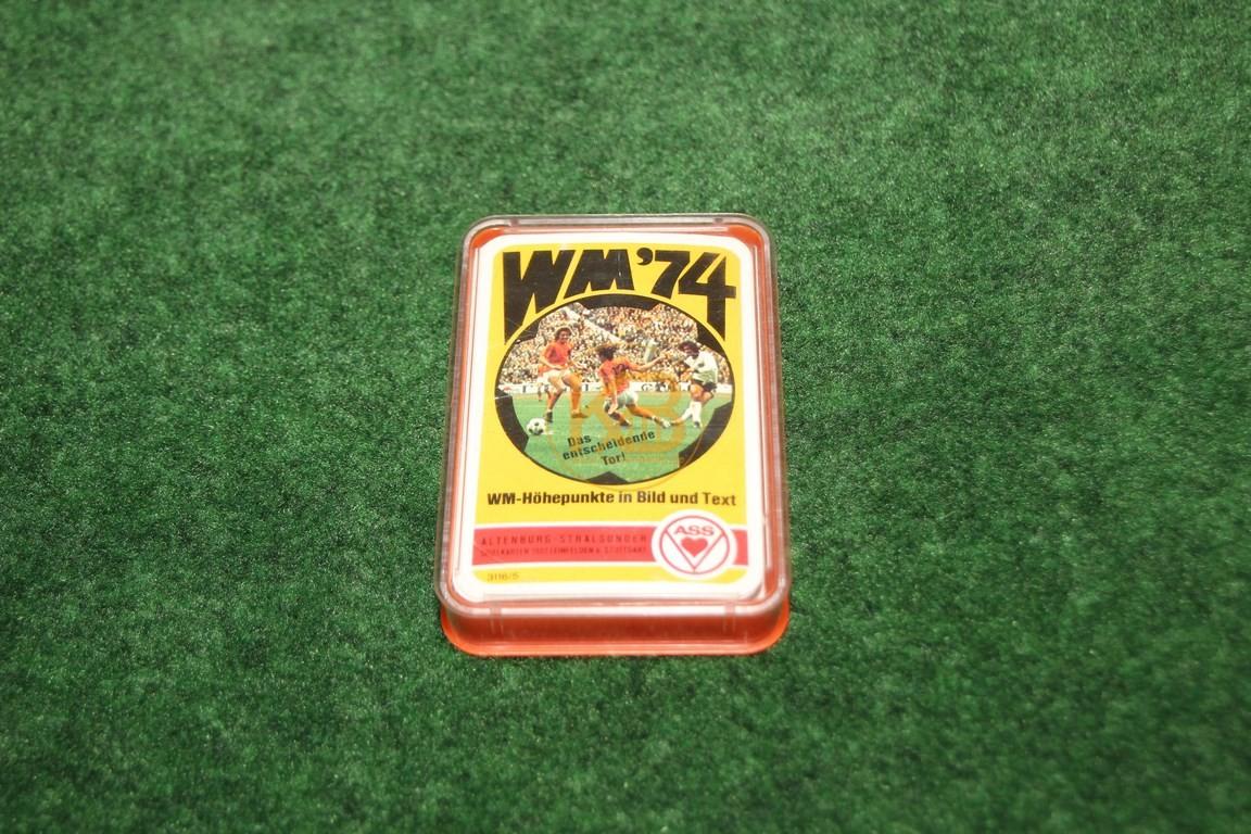 WM ´74 WM-Höhepunkte in Bild und Text Quartett von ASS ca. aus den 1970ern.