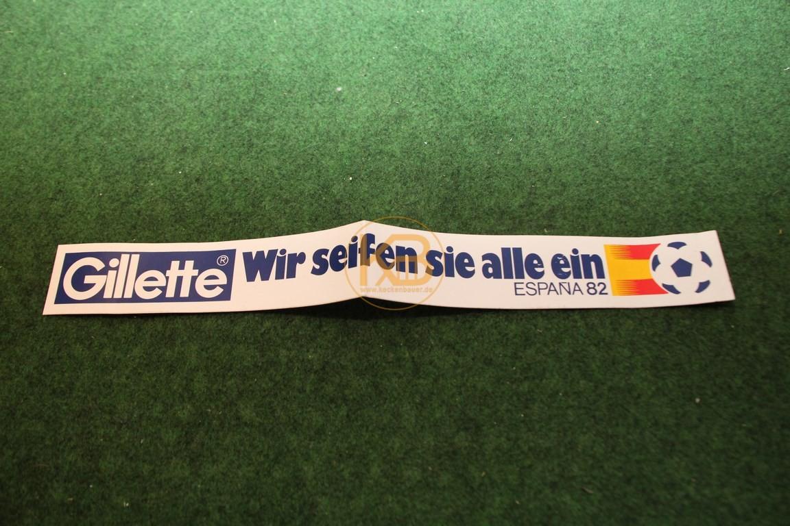 Aufkleber der WM 1982 in Spanien von Gilette.