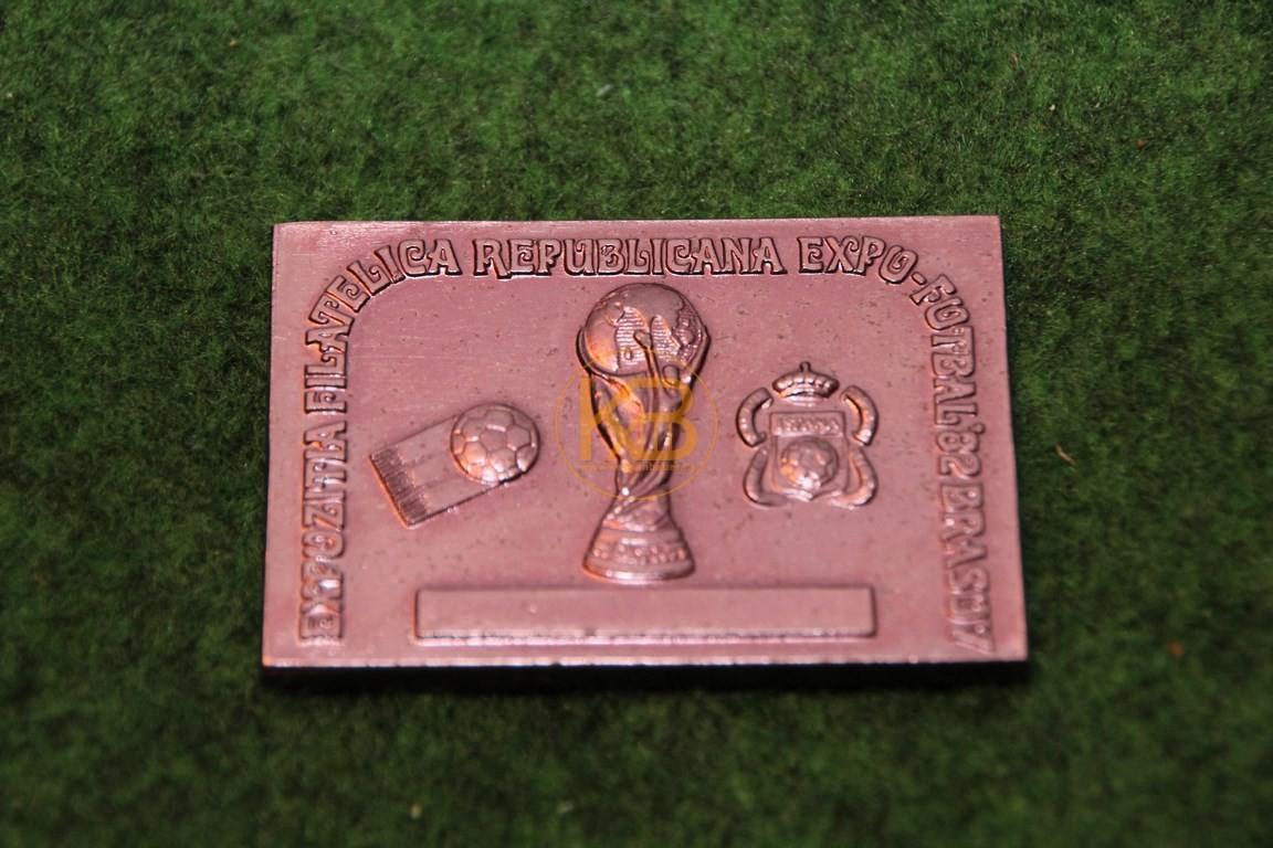 Andeckenplättchen zur WM 1982 in Spanien.