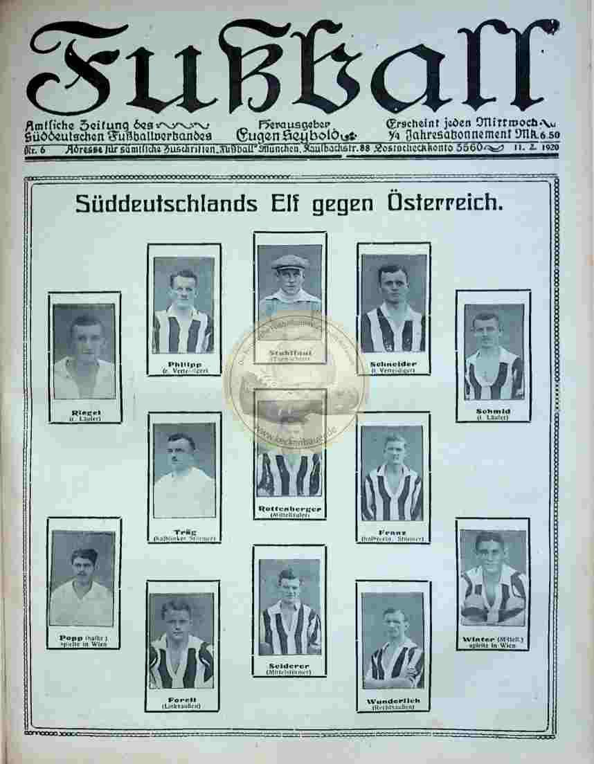 1920 Februar 11. Fußball Nr.6