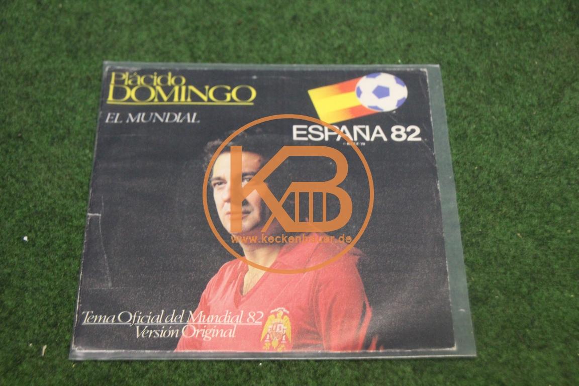 Platte von Placido Domingo mit El Mundial zur Weltmeisterschaft 1982 in Spanien