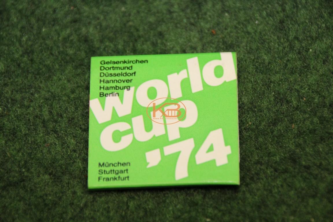 Original Streichhölzer zur WM 1974 von der Sparkasse