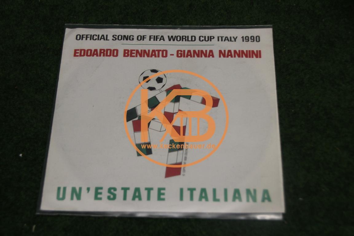 Offizizelle Platte mit dem WM Song 1990 von Edoardo Bennato und Gianna Nannini