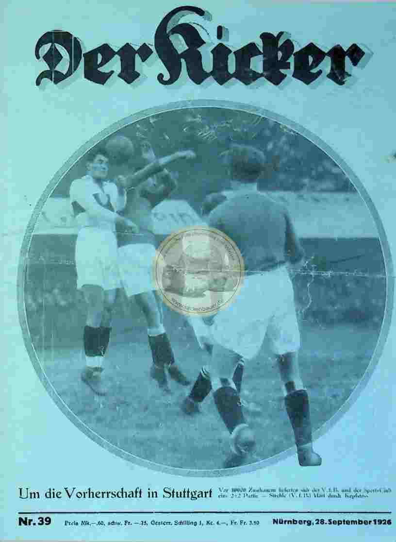 1926 September 28. Der Kicker Nr.39