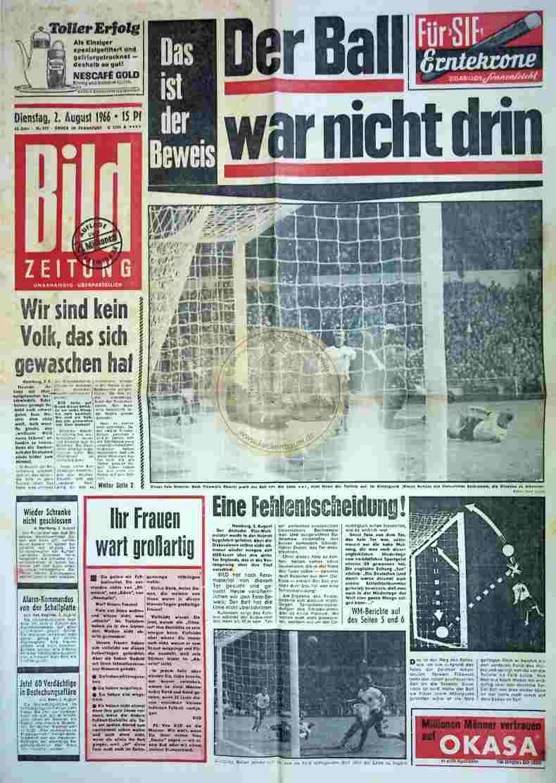 1966 August 2. Bildzeitung