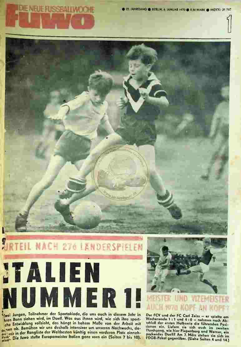 1970 Januar 6. Die neue Fussballwoche fuwo Nr. 1