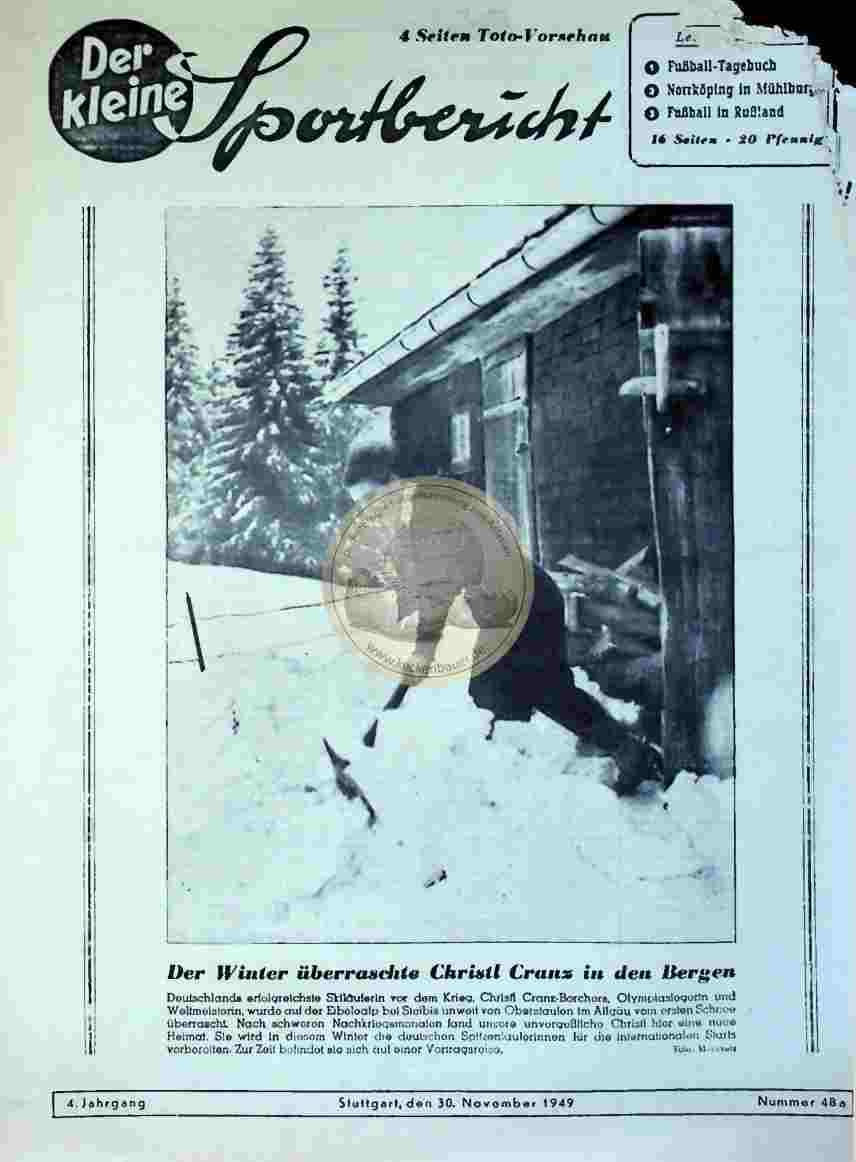 1949 November 30. Der kleine Sportbericht Nr. 48a