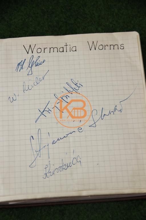 Original Autogramme von Wormatia Worms aus dem Jahr 1963