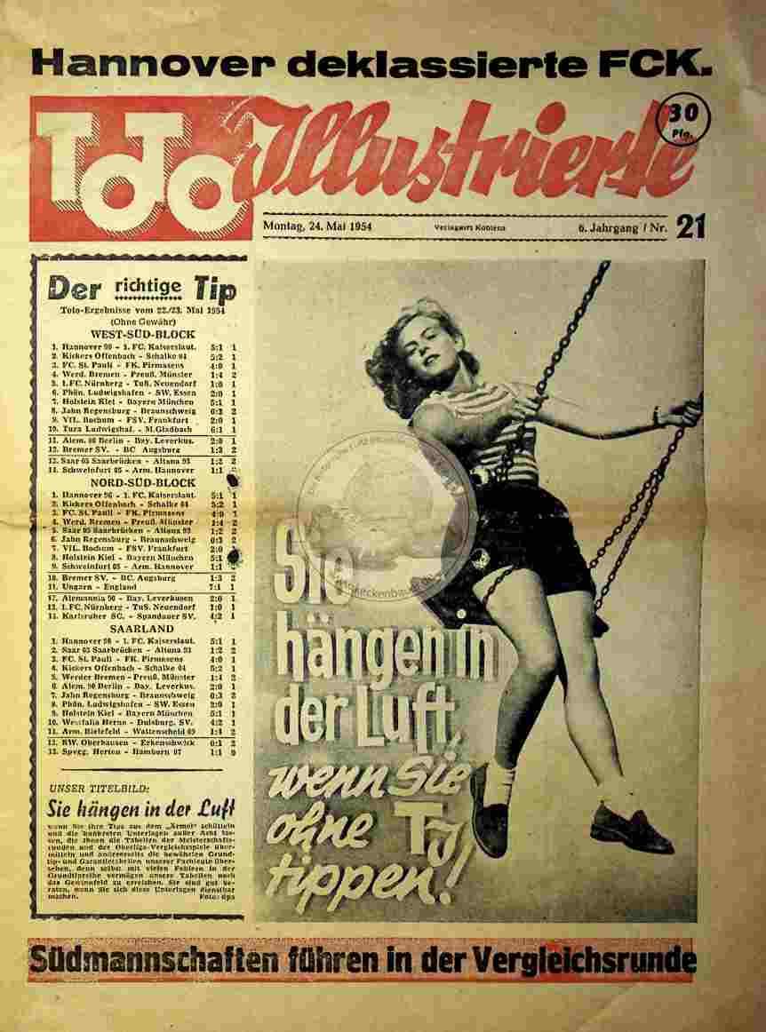 1954 Mai 24. Toto Illustrierte Nr.21